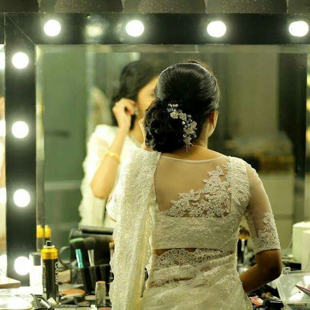 Wedding Hairstyle For Kerala Bride: Christian Wedding# Kerala Bride In Saree