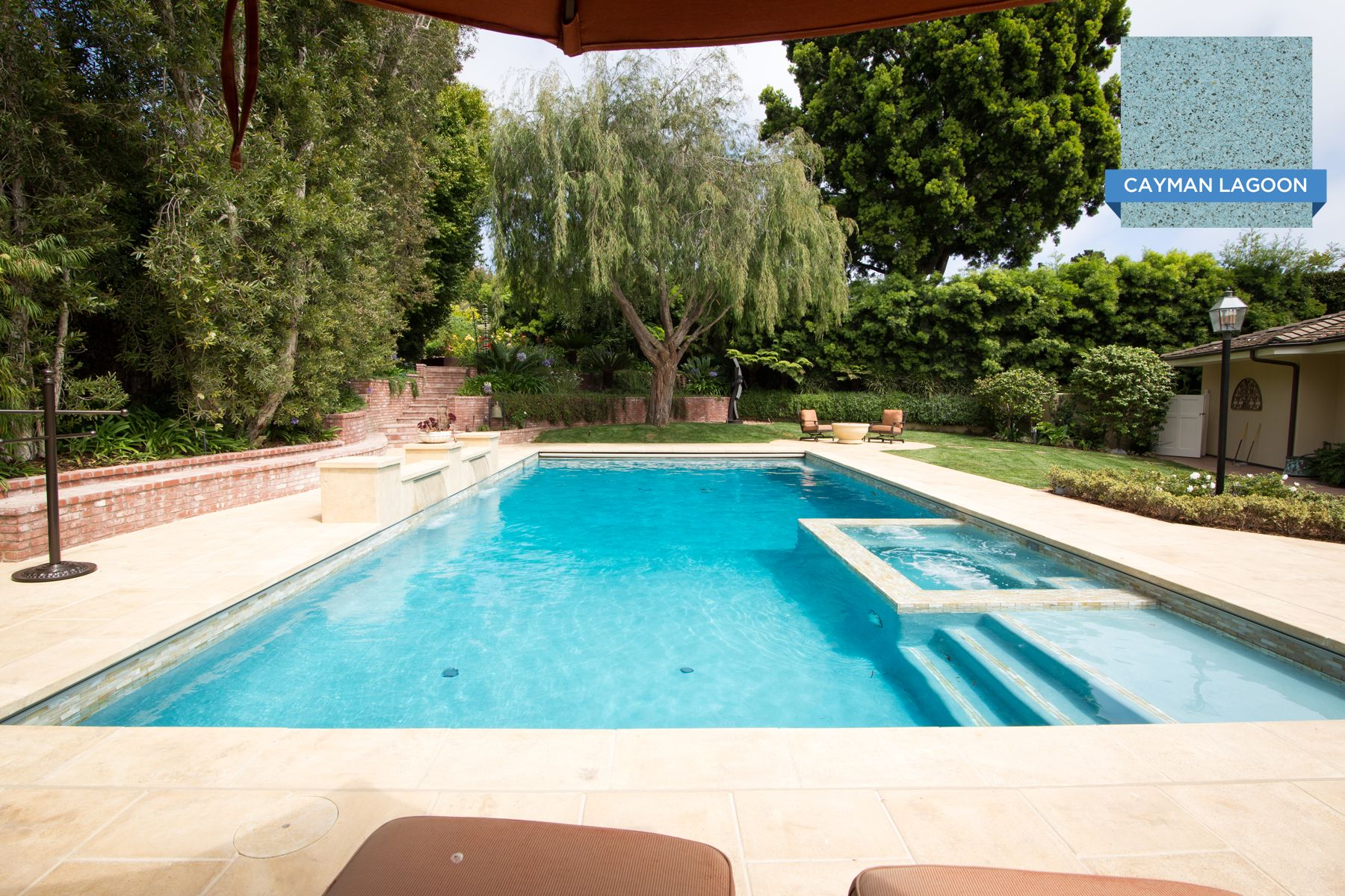 this stylish hill top pool in san diego ca is finished with our