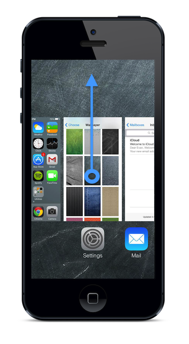 How to close apps in iOS7 Ios 7, Iphone apps, App