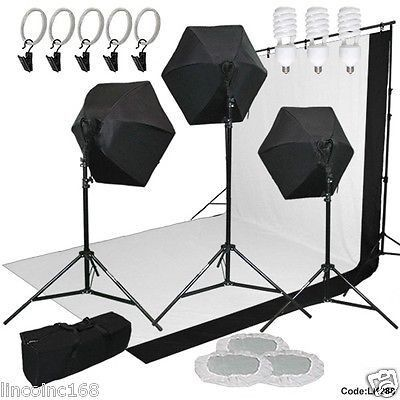 9x13 BW Backdrop Support Stand Photography Studio Video 3 Softbox Lighting Kit | Softbox lighting kit Softbox lighting and Photography studios  sc 1 st  Pinterest & 9x13 BW Backdrop Support Stand Photography Studio Video 3 Softbox ... azcodes.com