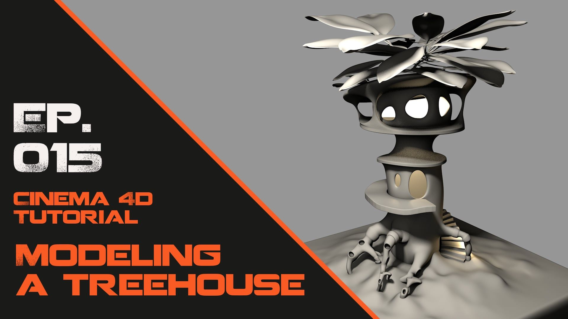 Character Design Cinema 4d Tutorial : Model a treehouse in cinema d tutorial tutoriels