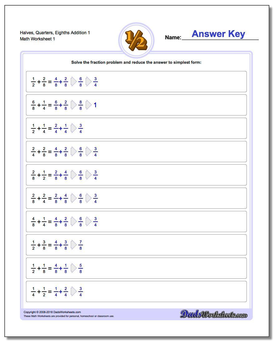 The Fraction Worksheets On This Page Have Examples Of Problems That Illustrate Increasing Leve Fractions Worksheets Fractions Multiplication Improper Fractions