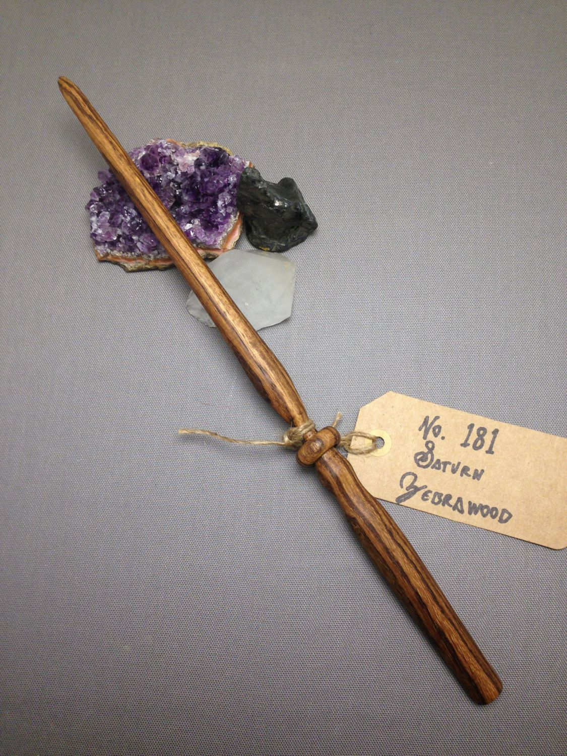 Wood Magic Wand No. 181 Saturn, Zebrawood Wizard Scepter Witch ...