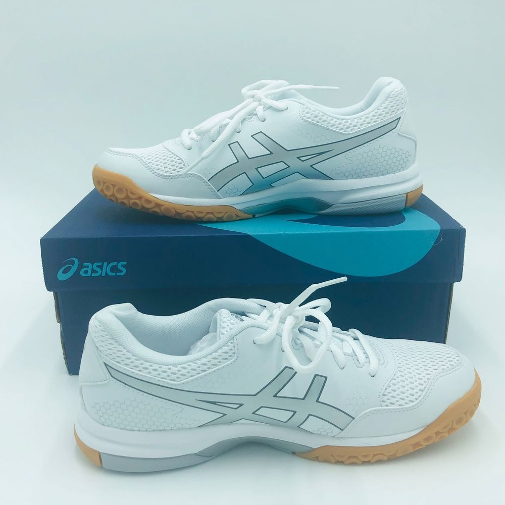 Asics Women S Gel Rocket 8 Volleyball Shoe Size 8 Sports Shoe White Silver Fashion Clothing Shoes Accessories Women Asics Women Gel Volleyball Shoes Shoes