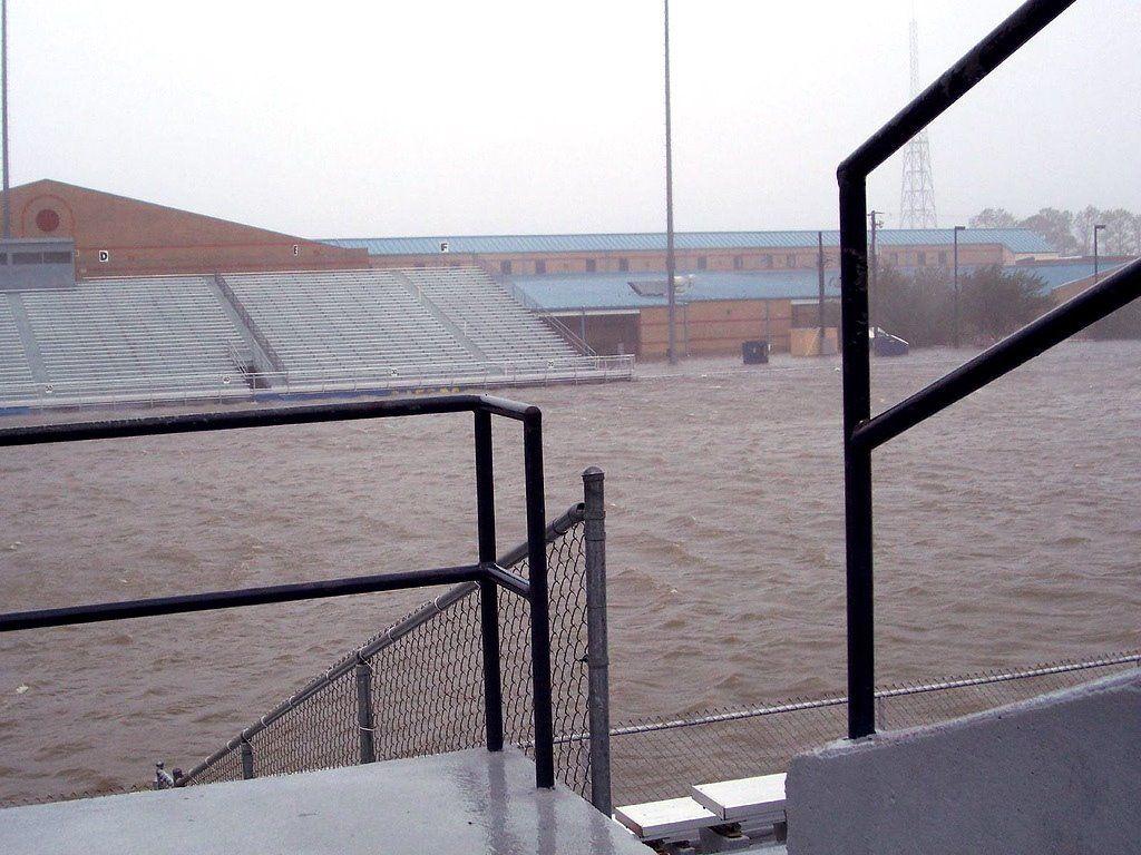 Panoramio Photo Of High School And Football Field During Storm Hurricane Katrina Pascagoula Football Field