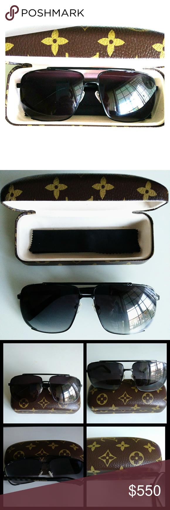 31660caa8a8d Louis Vuitton Attitude Pilot Sunglasses Z0537U These aviator-style  sunglasses feature Louis Vuitton s historic Damier