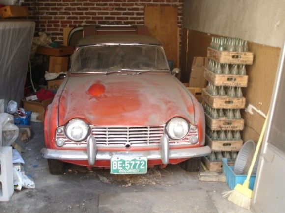 25 Years Parked 1964 Triumph Tr4 Barn Find Cars Triumph Barn Finds