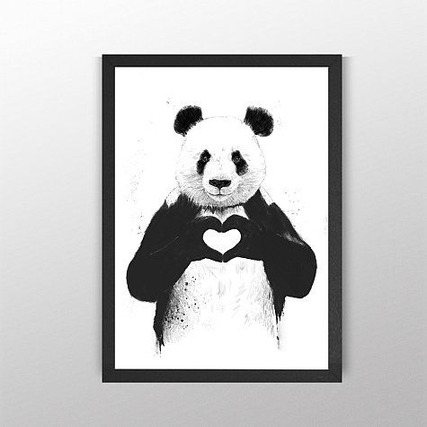 All you need is love by balazs solti canvas from quirky art by curioos on gilt