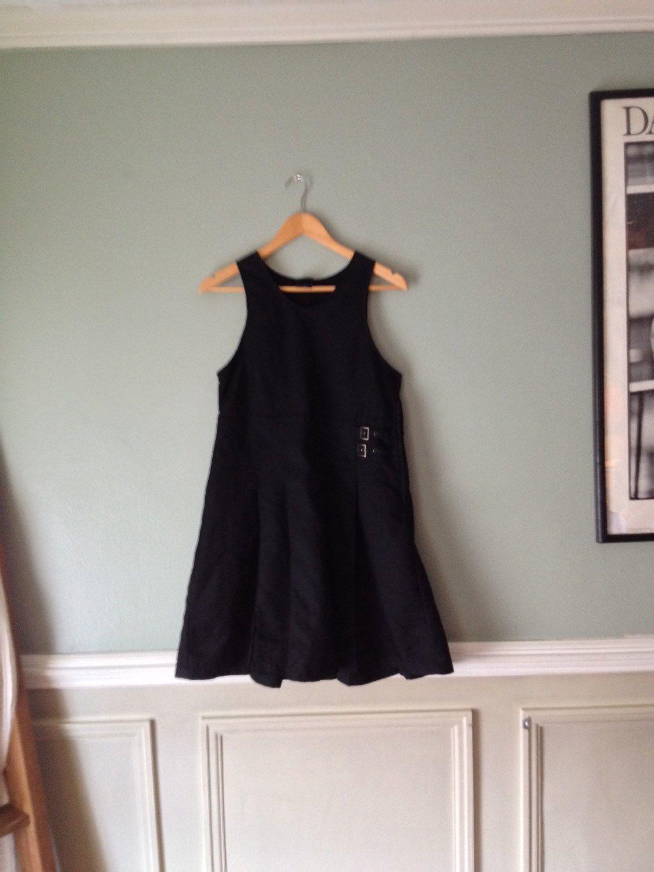 90s LBD sz Med Black School Girl Dress  by HerCedarCloset on Etsy https://www.etsy.com/listing/230365162/90s-lbd-sz-med-black-school-girl-dress