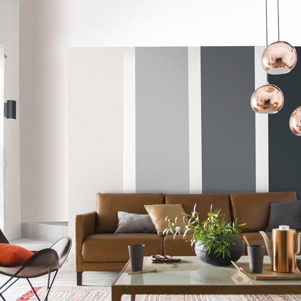 Camaïeu de gris dans le salon pour une déco 100 tendance