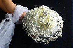 Svadba - Svatební kytice Shamballa třpytivá + korsáž - 2199961