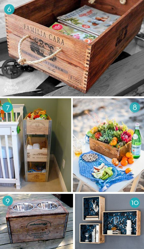 10 New Ways To Repurpose Wine Crates Wine Crate Pinterest Diy Diy