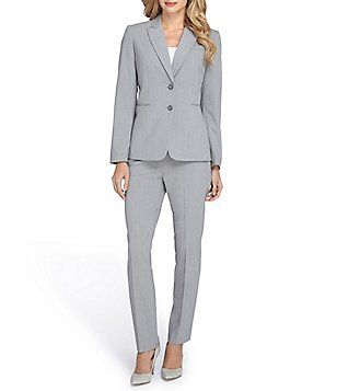 Tahari Asl Cuffed 2 Button Pant Suit What To Wear Pinterest