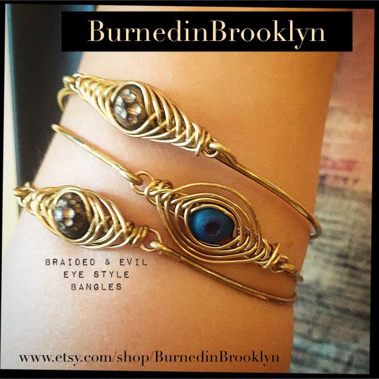 "BurnedinBrooklyn on Instagram: ""I love these braided wire bracelets STACKED! Find these handmade lovelies in our Etsy shop! One word BURNEDINBROOKLYN! www.etsy.com/shop/BurnedinBrooklyn #burnedinbrooklyn #oneword #etsy #style #obsessed"""