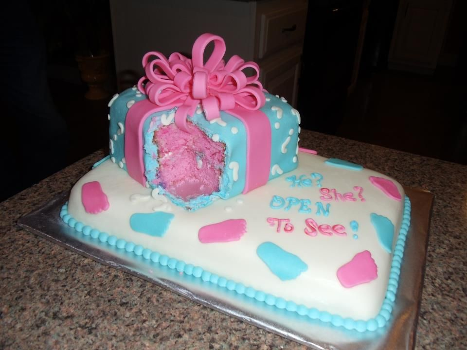 Cake Ideas For Baby Reveal Party : Gender reveal Baby cake Gender reveal party Pinterest