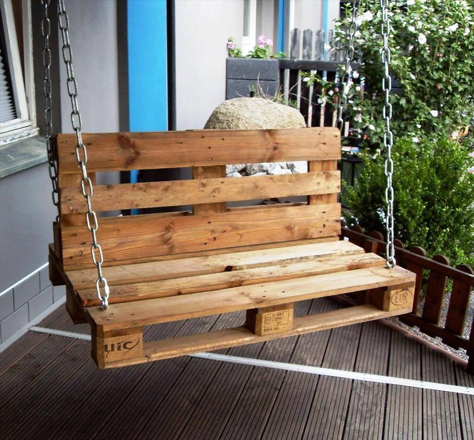 Pallet Garden Porch Swing 20