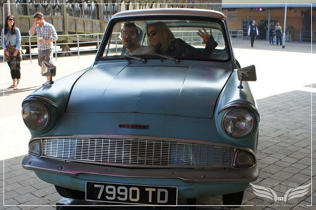 The Establishing Shot The Making Of Harry Potter Tour Outside Sets Drive Arthur Weasley S 1963 Ford Anglia 105e Del Ford Anglia Harry Potter Tour Making Of Harry Potter