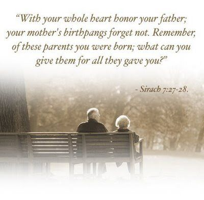 Honor Thy Father And Thy Mother From The Young Adults In Christ