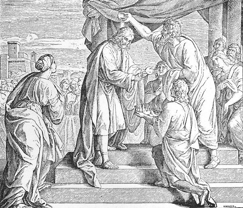 Bilder der Bibel - David wird König über Juda - Julius Schnorr von Carolsfeld