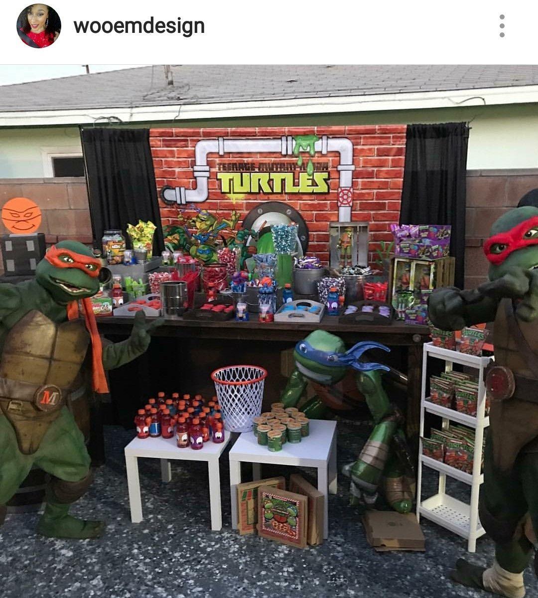 Teenage Mutant Ninja Turtles Inspired Outdoor Birthday Party Outdoors Birthday Party Ninja Turtle Birthday Kids Party Themes