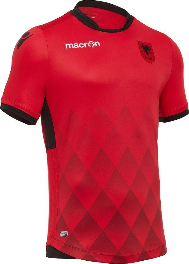 43055a4151 Macron apresenta as novas camisas da Albânia - Show de Camisas ...