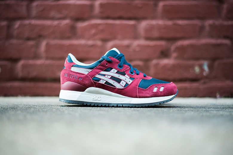 ASICS Gel Lyte III Burgundy/Soft Grey