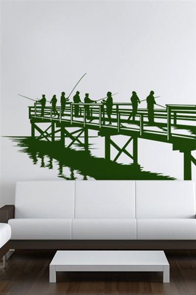 I just discovered some really cool wall art it do it yourself wall decals for kids and adults fishing from the dock wall decals