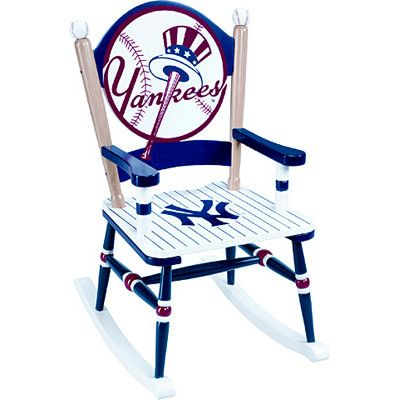 Terrific Guidecraft Mlb New York Yankees Rocking Chair This This For Gmtry Best Dining Table And Chair Ideas Images Gmtryco