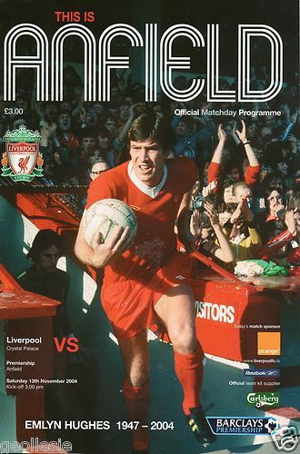 Liverpool v Crystal Palace 13.11.04..... remembering Crazy Horse