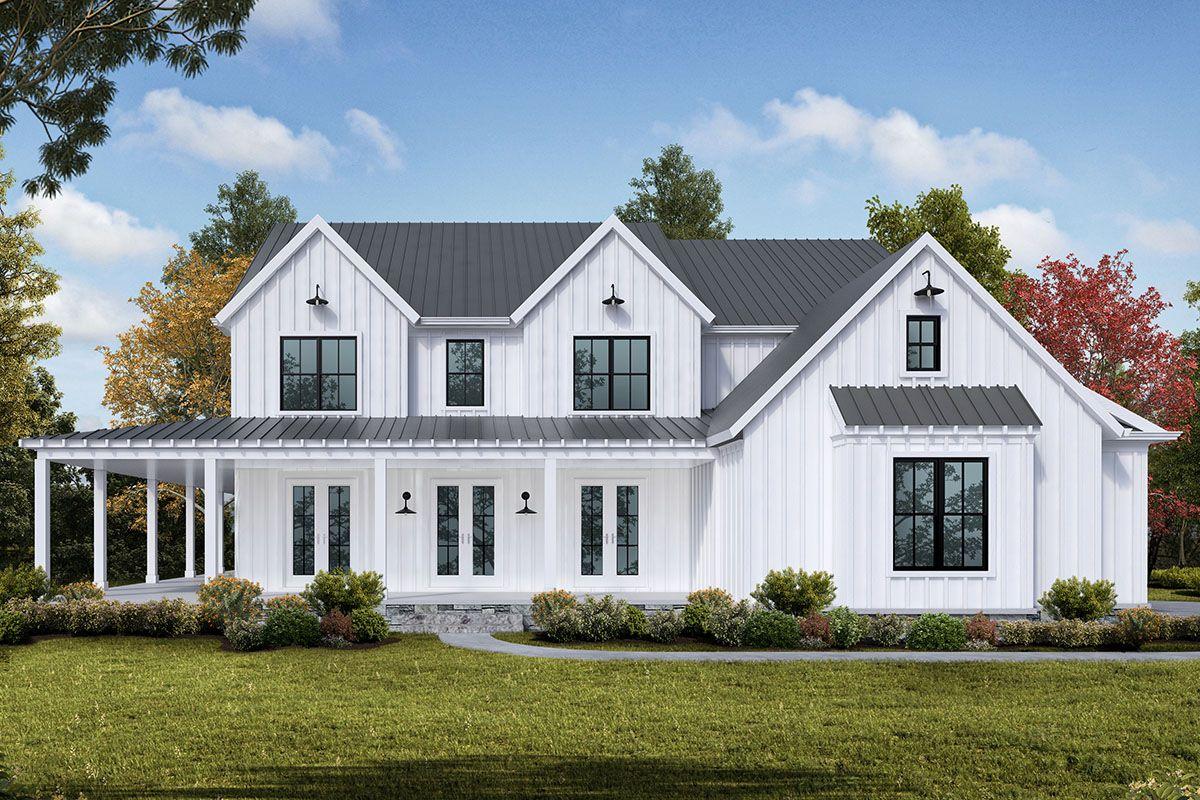 Plan 25660GE: New American House Plan with Wraparound ...