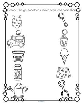 SUMMER Activities Printables Pack Low Prep for Preschool