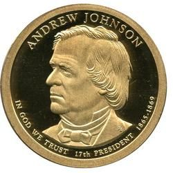 PRESIDENTIAL 2011D ANDREW JOHNSON FREE SHIPPING
