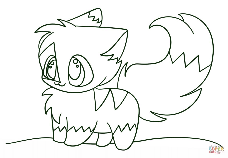 Kawaii Chibi Kitten Coloring Page Free Printable Coloring Pages Coloring Home Unicorn Coloring Pages Anime Kitten Animal Coloring Pages