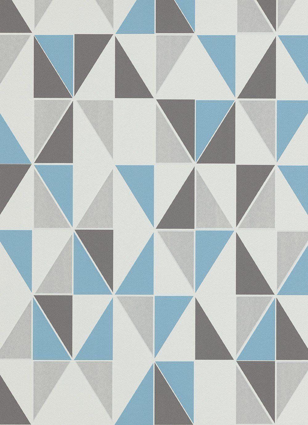 Vliestapete Design Kariert Blau Grau Tapete Erismann Make Up 2 6925