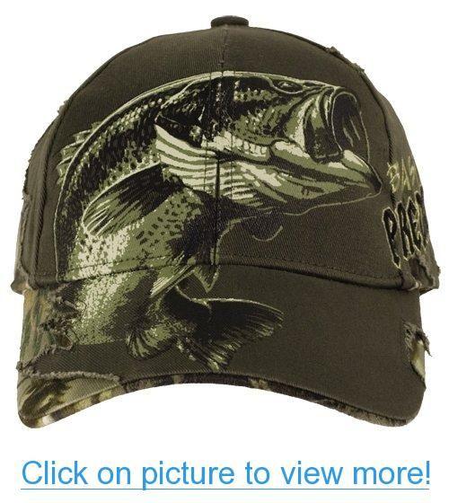 Buck wear predator bass hat buck wear predator bass for Fishing baseball caps