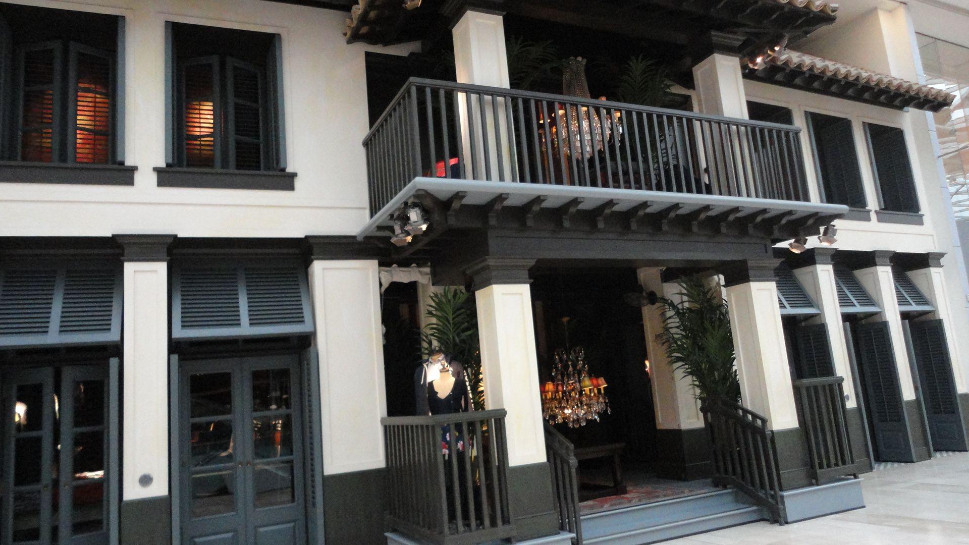 Large hollister store exterior retail design pinterest