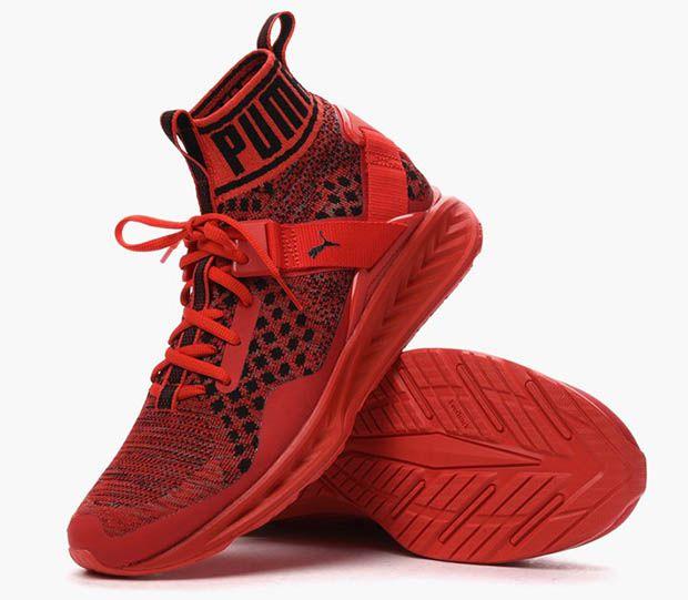 puma ignite woven red