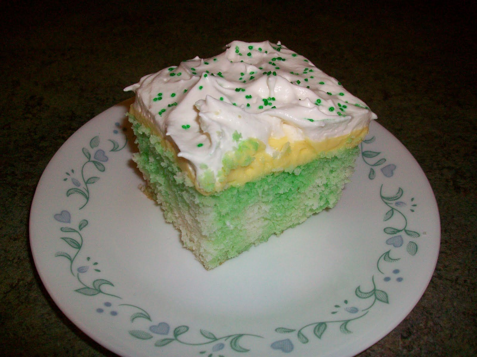 Lemon Lime Poke Cake With Cool Whip Frosting