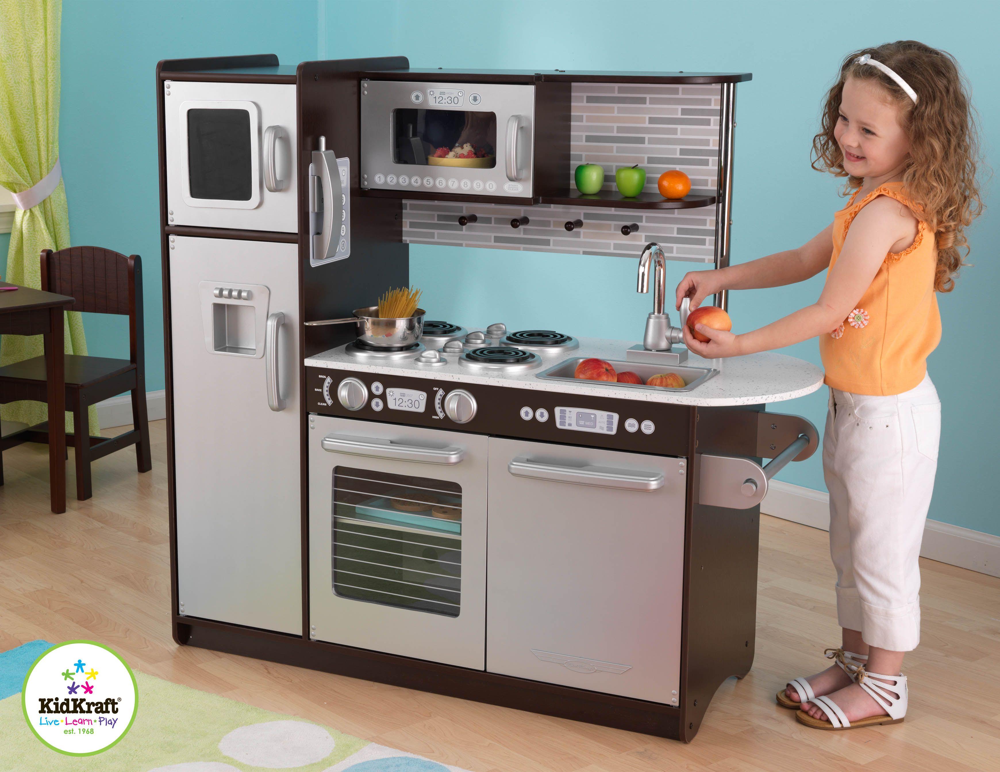 Kidkraft Play Kitchen Set kids kitchen set - kidkraft uptown espresso colored kitchen for