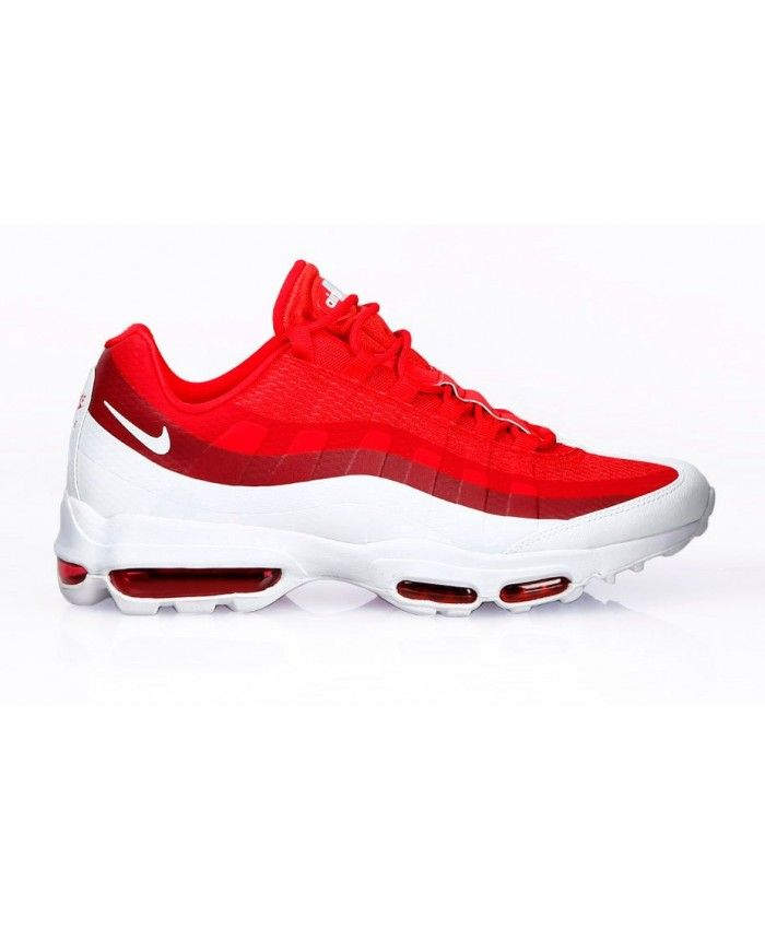 hot products wholesale outlet wholesale outlet Nike Air Max 95 Ultra Essential University Red White Shoes ...