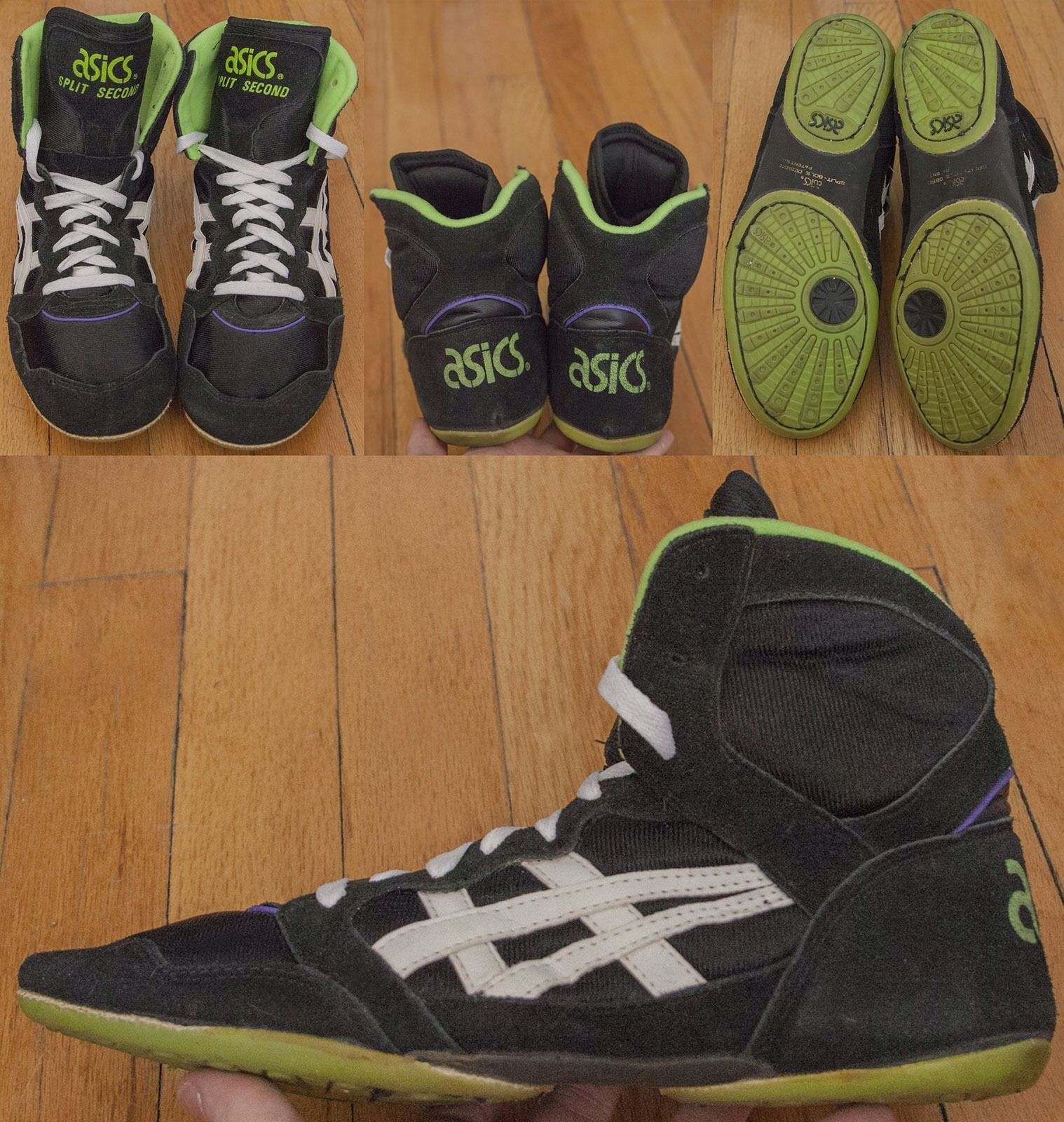 vintage asics wrestling shoes
