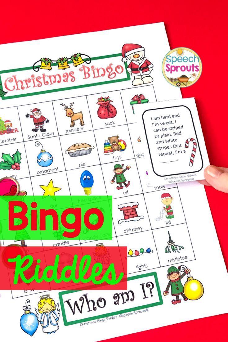 Christmas Bingo Riddles Game Christmas bingo, Rhyming