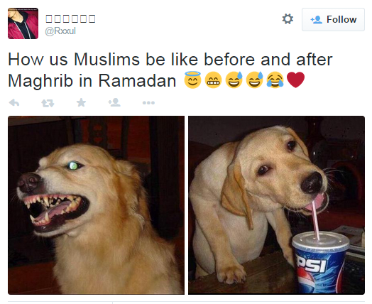 Post-iftar happiness. | 22 Pictures That Only Muslims Will Find Funny