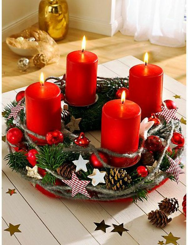 adventskranz ideen und bilder f r eine m rchenhafte weihnachtsdeko diy pinterest. Black Bedroom Furniture Sets. Home Design Ideas