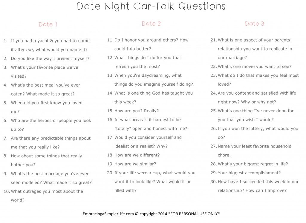 Questions for couples game night