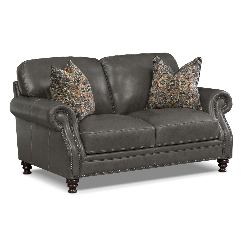 Wondrous Carrington Charcoal Loveseat American Signature Furniture Short Links Chair Design For Home Short Linksinfo
