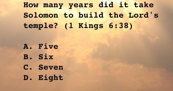 How Many Years Did It Take Solomon To Build The Lords Temple