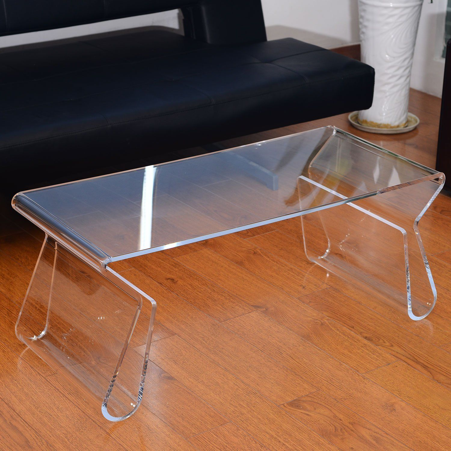 Modern Portable Acrylic Lucite Carrying Tray Side End Coffee Table   Clear  In Home U0026 Garden, Furniture, Tables
