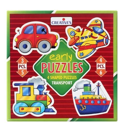 Creatives Early Transport Puzzle Multicolor Shape Puzzles Toy Store Creative Toy