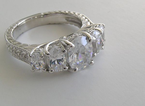 5 stone ring five stone oval cut diamond accented ring settings